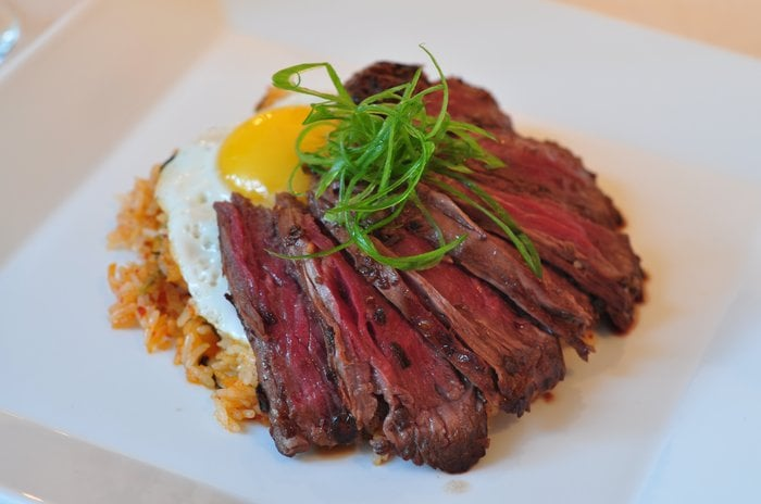 Korean Rice Bowl With Steak, Asparagus, And Fried Egg Recipes ...