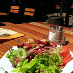bacon wrapped Asparagas salad. Very…