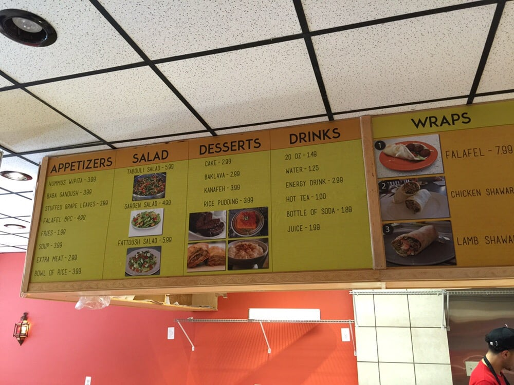 Towson (MD) United States  city pictures gallery : Falafel House The side menu Towson, MD, United States