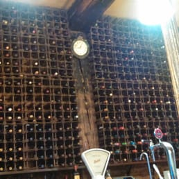 So much wine on the walls!