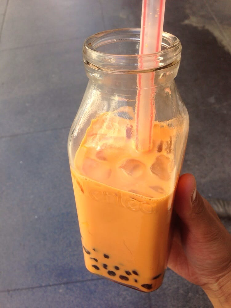 Thai Tea Pudding Thai Iced Milk Tea With