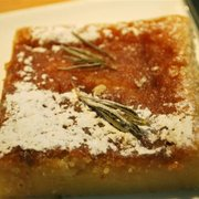 Lemon & rosemary polenta cake.