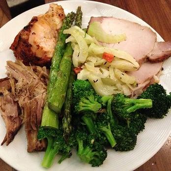 ... Lemon Butter Broccoli, Pork Loin, Chicken, Asparagus, Fennel w