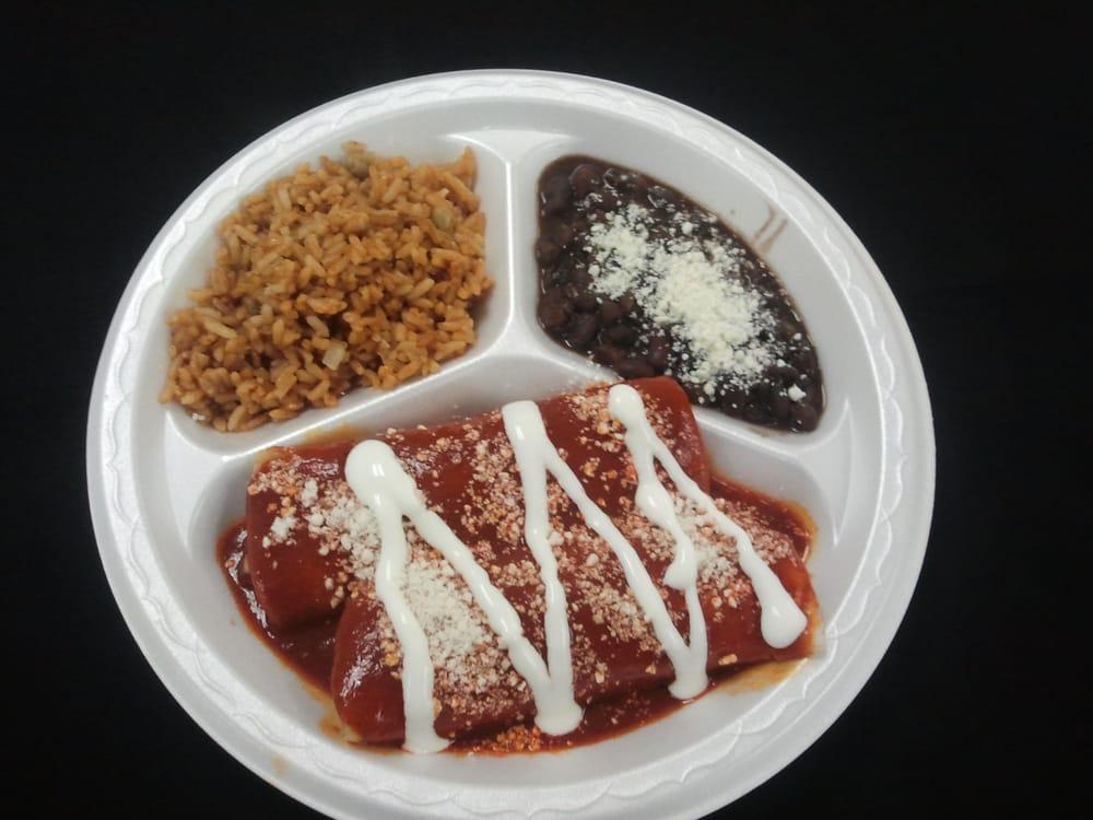 Achiote Grill - Huntington Beach, CA, United States. Achiote Enchiladas