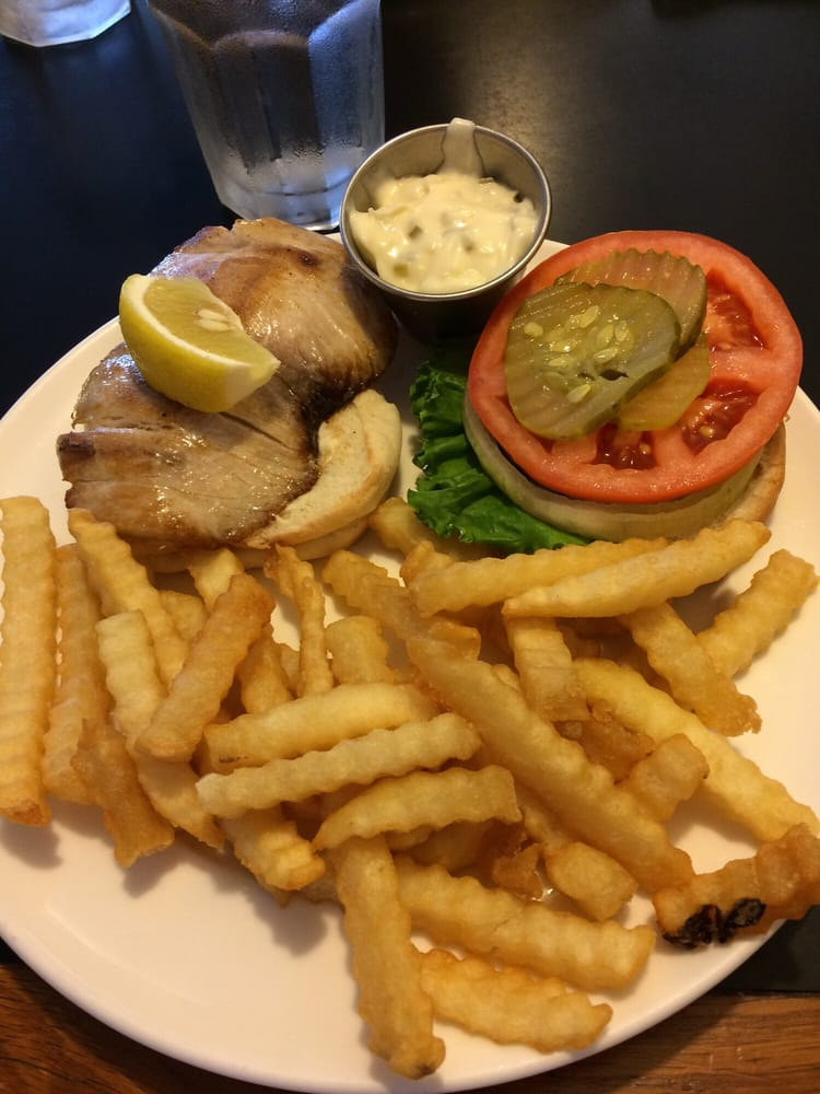 Mahi mahi grilled fish sandwich with fries super good yelp for Fish sandwich near me