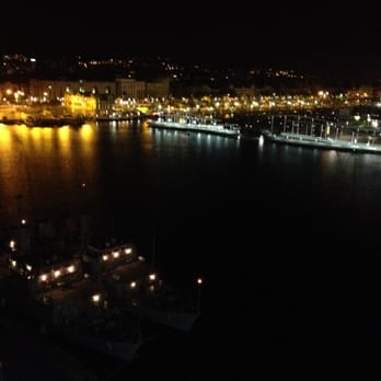 Eurostars Grand Marina - Late night view from the 8th floor - Barcelona, Spain