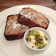 Banana Toast with Pistachio Yoghurt