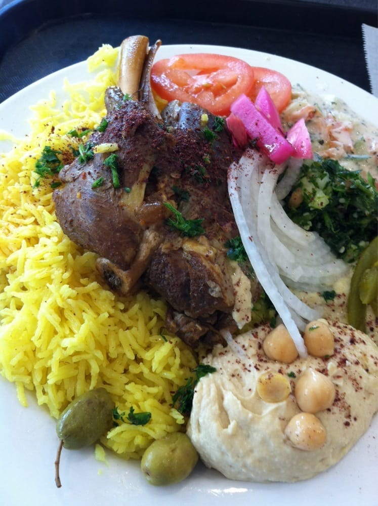Lamb shank cooked to fall off da bone perfection yelp for 1001 nights persian cuisine groupon