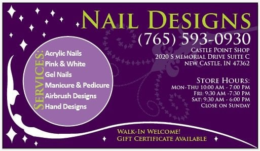 Nail Designs Business Card