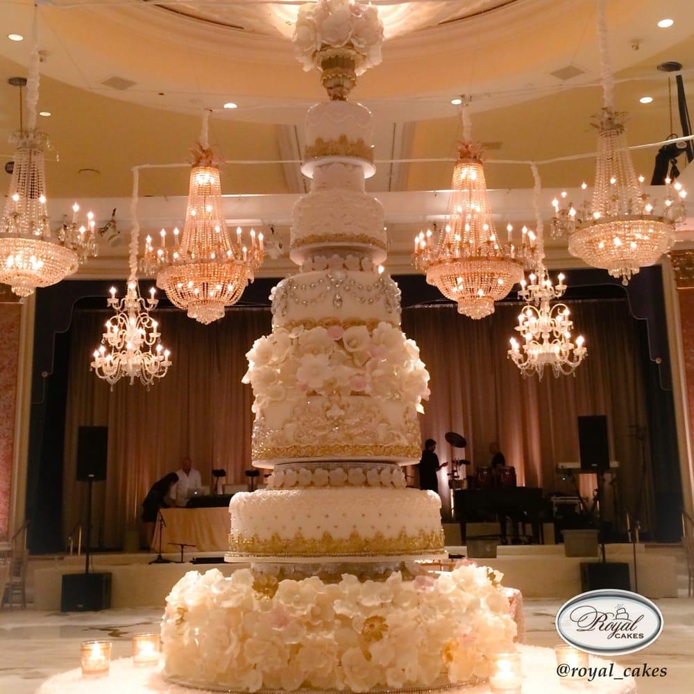Beverly Hills Wilshire Hotel Wedding Grand Wedding Cake Royal Cakes Royalcakesla