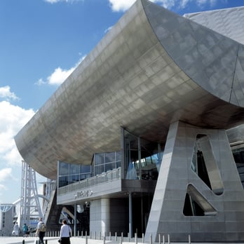 Entrance canopy at the Lowry by Len Grant