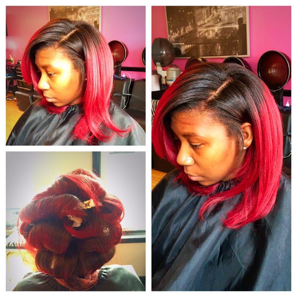 Natural Hair Color And Silk Press Yelp
