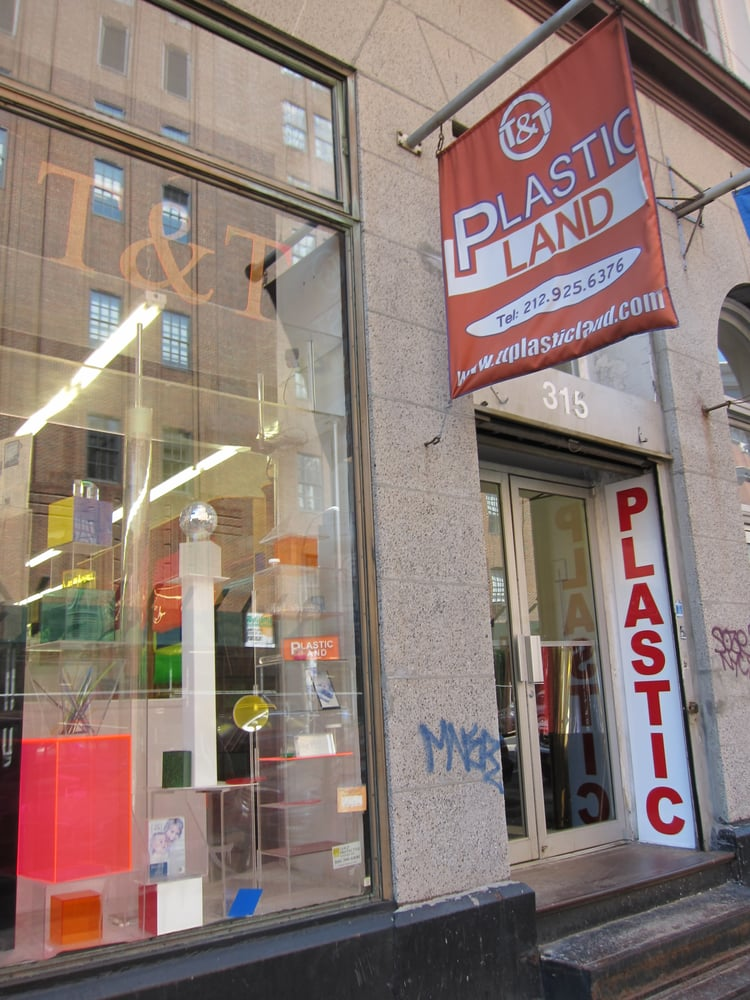 T t plastic land art supplies tribeca new york ny for Craft stores in nyc