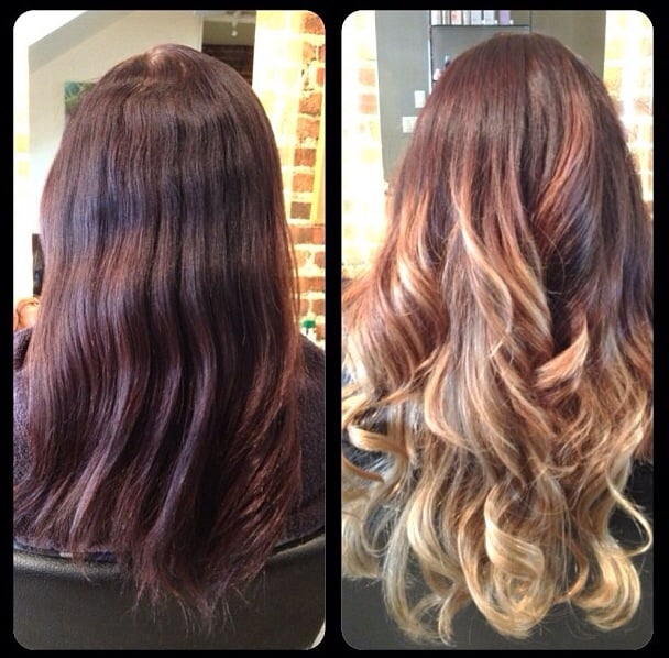 Balayage Before And After Before And After Dark Brown Hairs