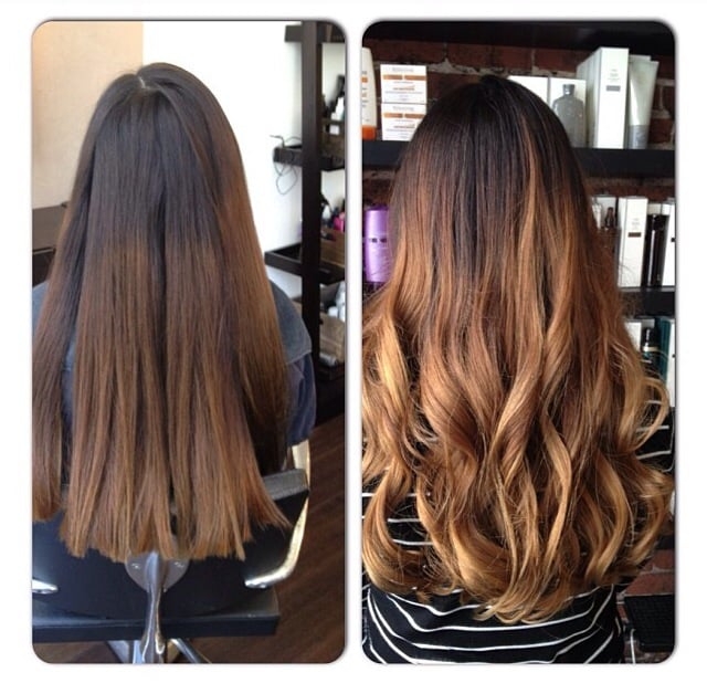 PATRICK EVAN Hair Salon - Balayage Highlights Ombre effect before and ...