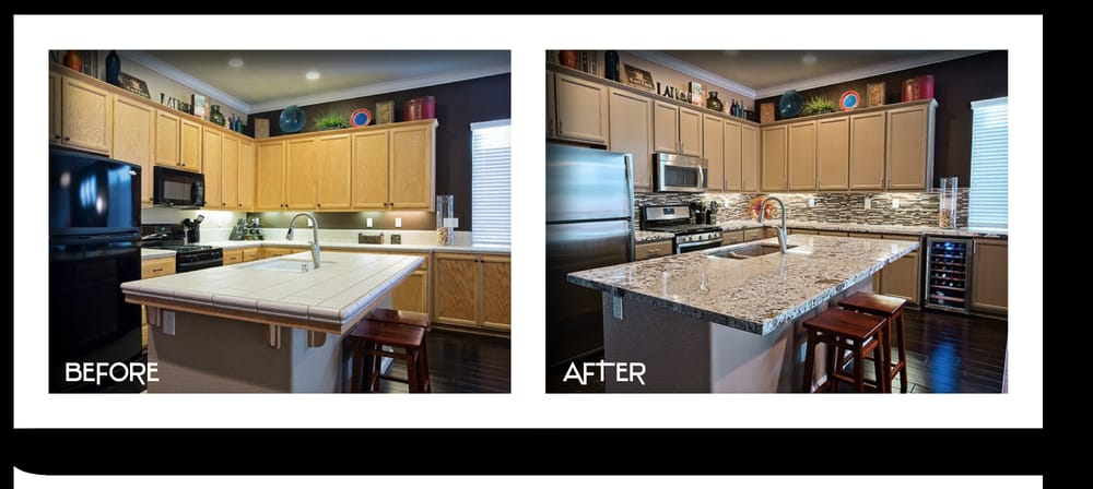 7 Day 15 000 Kitchen Remodel Including Bianco Antico Granite Counters Kelly Moore Creme De