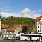 Der Platz vor dem Bachhaus in Eisenach