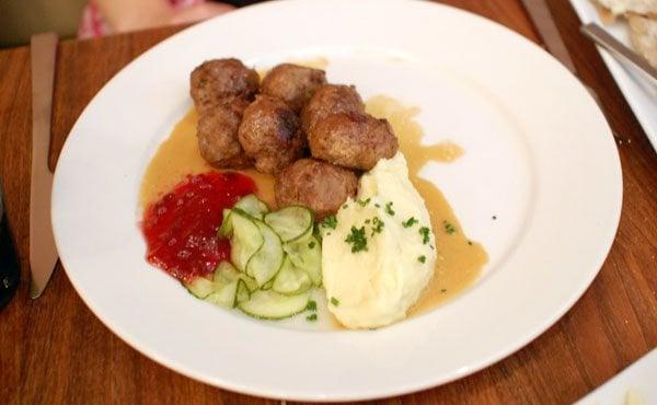 ... States. Swedish Meatballs lingonberries, cream sauce, mashed potatoes