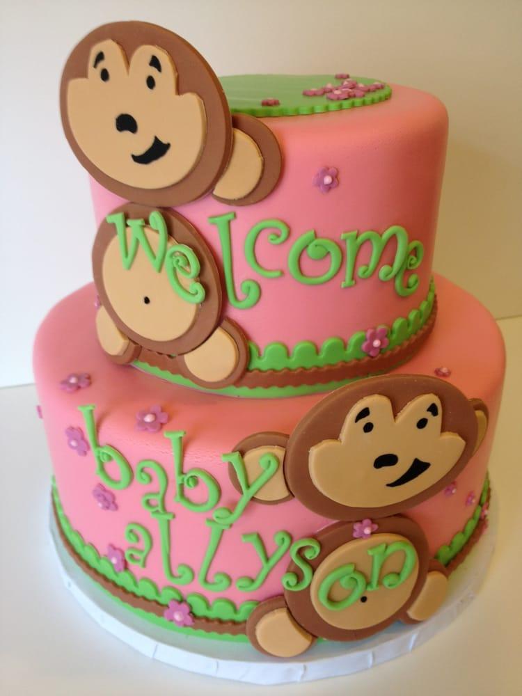 Sugar Mill Cake - Monkey baby shower cake - Oakland, CA, United States