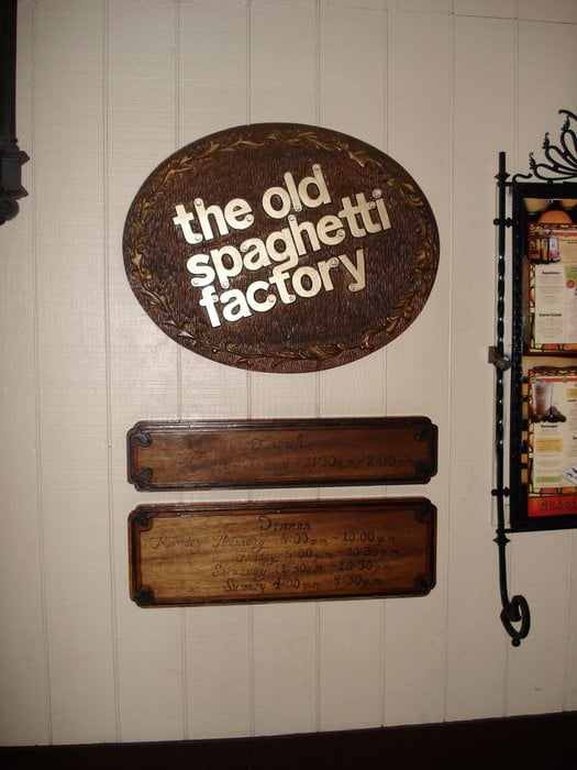 Find a The Old Spaghetti Factory near you or see all The Old Spaghetti Factory locations. View the The Old Spaghetti Factory menu, read The Old Spaghetti Factory reviews, and get The Old Spaghetti Factory hours and directions/5(20).