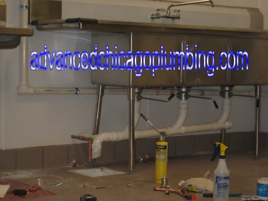 Commercial Triple Sink : Advanced Chicago Plumbing, Inc - Commercial Triple Basins Sink with ...