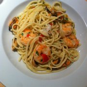 Spicy shrimp linguini