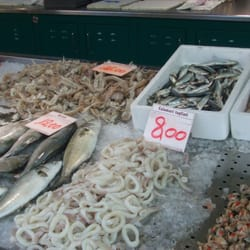 Typical produce at Treviso Fish Market