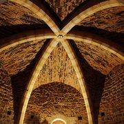 Une des voûtes d'ogives du château de…