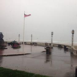 The Boardwalk - Seaside, OR, États-Unis. Rainy day in seaside.