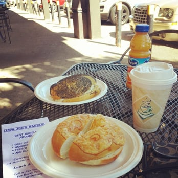 ... with sausage egg and cheese. Cinnamon nut coffee and orange juice