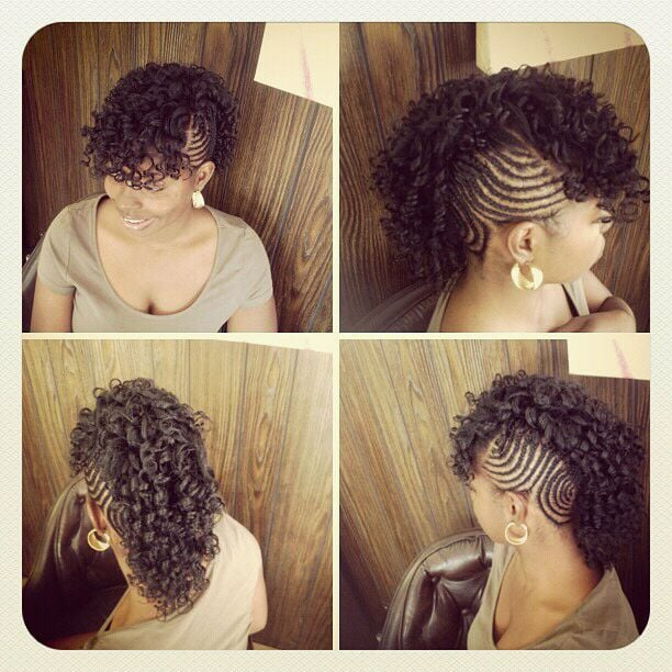 Mohawk Styles For Natural Hair Natural Hair Styling Mohawk
