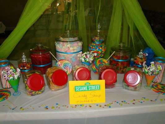 Fairytale Events - Candy Bar at a Sesame Street themed baby shower ...