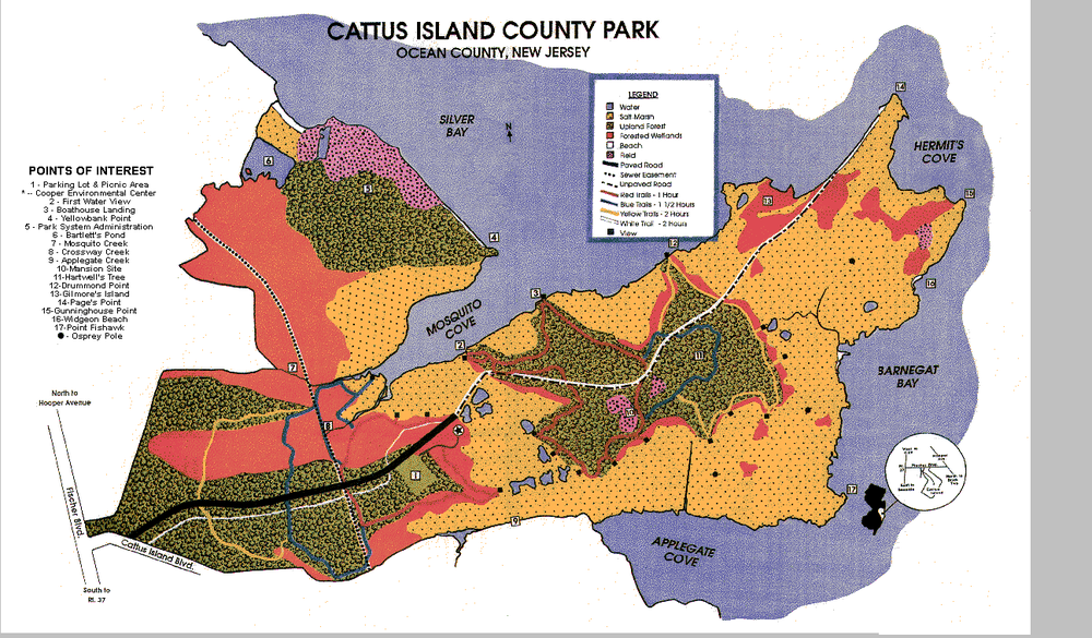 Cattus Island Park Map