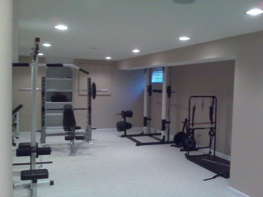 cincy basements remodeled basement to exercise room west chester