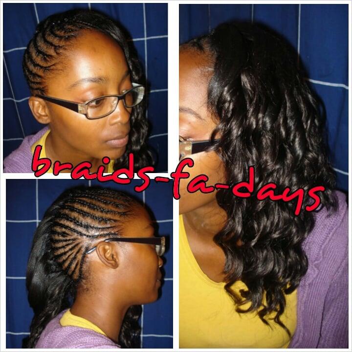 Cornrows For Half Weave | cornrows braids extensions half