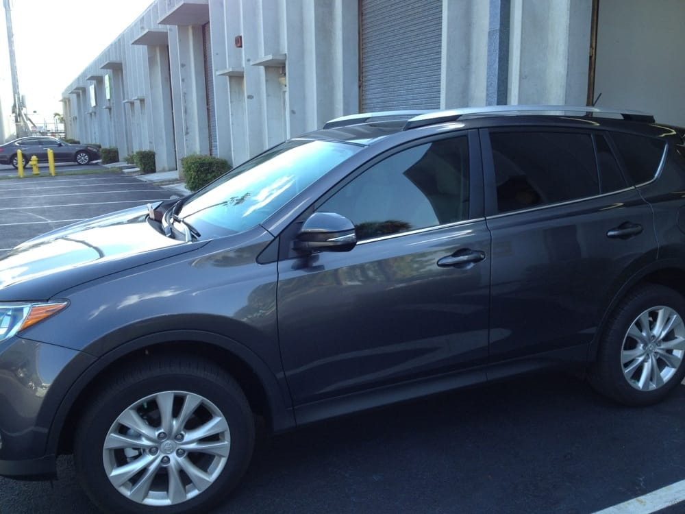 A 2014 Toyota Rav 4 Tinted With 20 For Uv Protection And