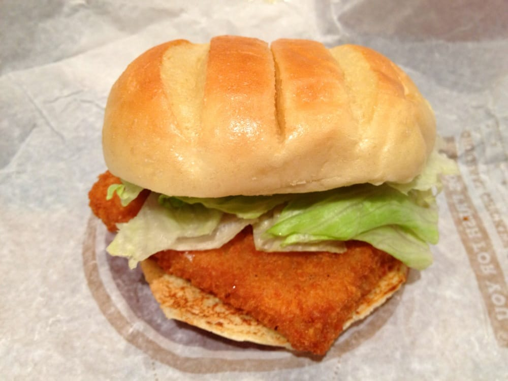 Bk Big Fish Sandwich Yelp