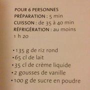 La Régalade - Paris, France. Et pour ceux qui adore le riz au lait la recette