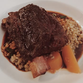... Leméac - Montreal, QC, Canada. Braised beef short rib, barley stew