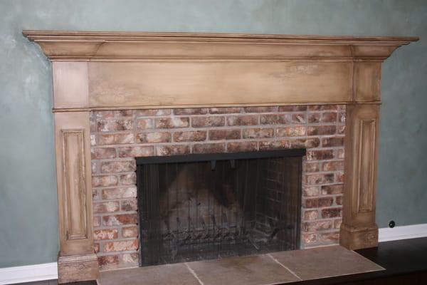 Walls Venetian Plaster Fireplace Faux Finish Yelp