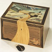 Beautiful Marquetry Memory Box