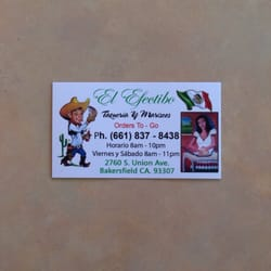 El efectibo 17 foton mexikansk mat 2760 s union ave for Business cards bakersfield
