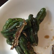 Garden Korean Cuisine - Shishito peppers with dried anchovies. - Federal Way, WA, Vereinigte Staaten