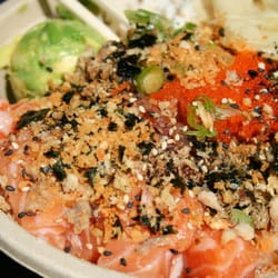 Pick a poke lorianne l left tips and reviews on 4 for Fish me poke menu