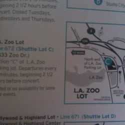 hollywood bowl shuttle la zoo lot parking griffith