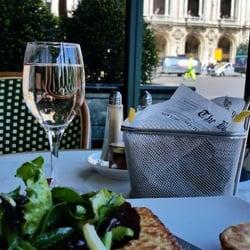 Café de la Paix - Paris, France. Croque monsieur and fries