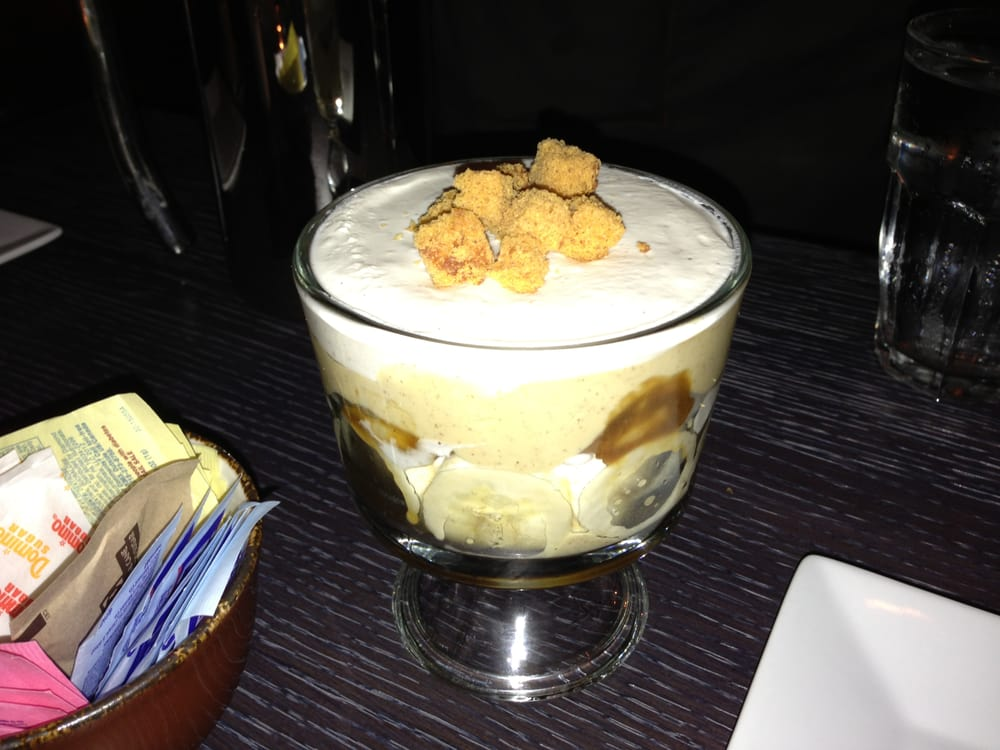 ... Banana Trifle - Bananas Foster Custard, Fresh Bananas, Spiced Banana