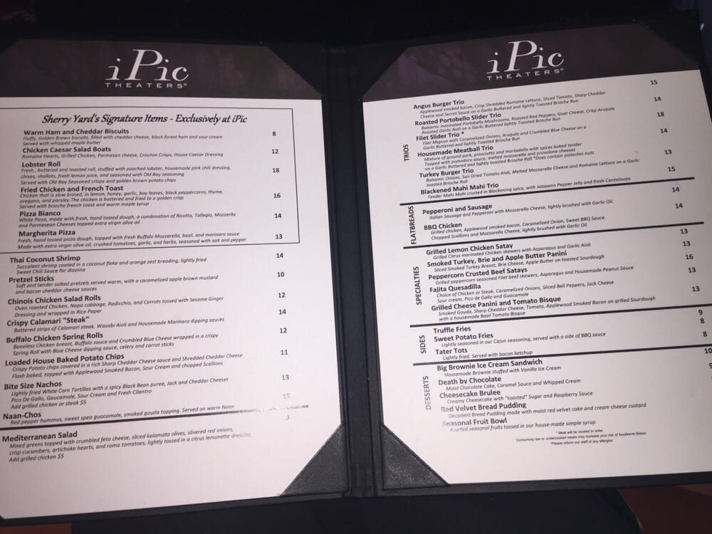 ipic pasadena food menu foodstutorialorg