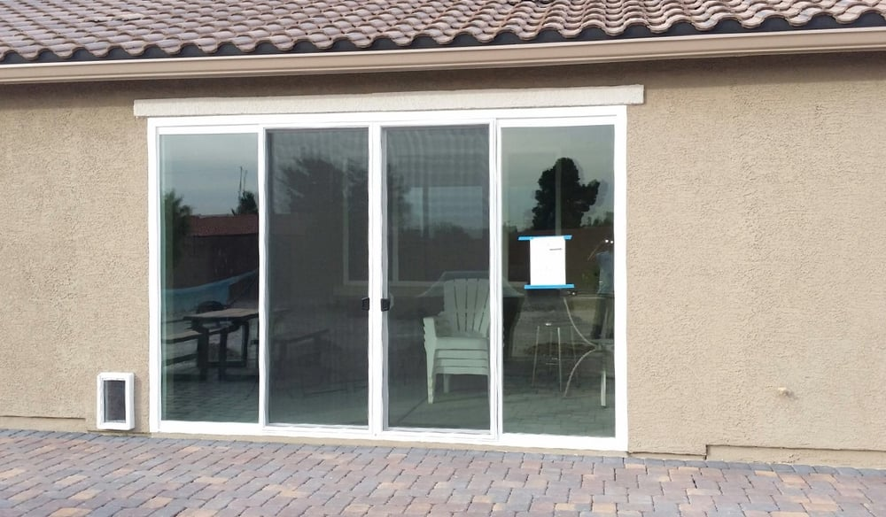Enclose your patio with a magnificent 12 foot wide and 8 for 12 foot sliding patio doors