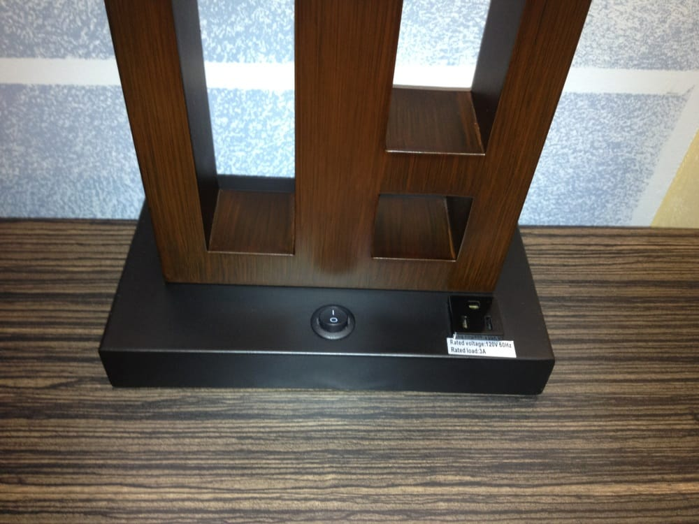 my favorite thing bedside lamps with outlets they have it here. Black Bedroom Furniture Sets. Home Design Ideas